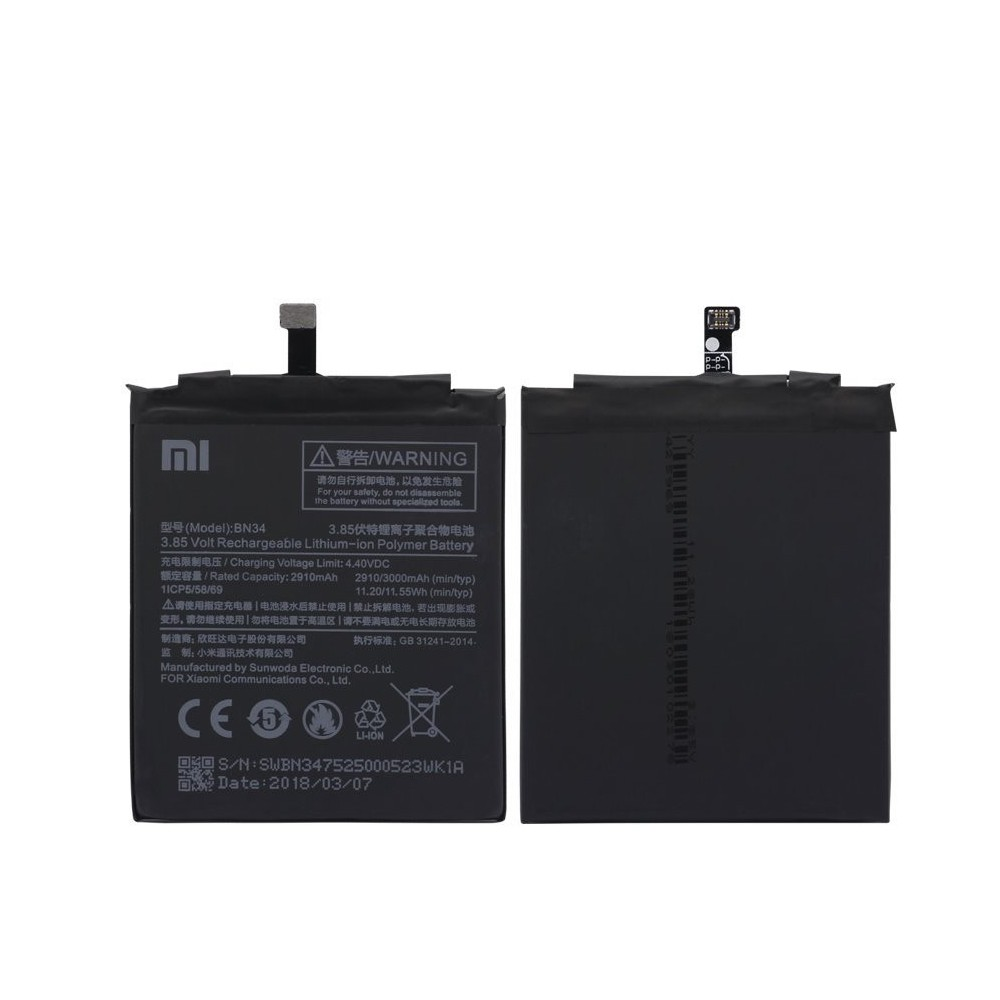 Náhradní baterie BN34 pro telefony Xiaomi Redmi 5A / Mi 5A