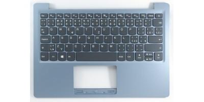 česká klávesnice Lenovo IdeaPad 120S-11IAP 130S-11IGM S130-11IGM black CZ/SK - blue silver palmrest CZ/SK