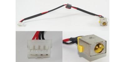 Napájecí konektor s kabelem Packard Bell TM81 TM83 TM86 TM87 TM98 TS13 TS13 - 5,5x1x7mm - 4pin - 65W