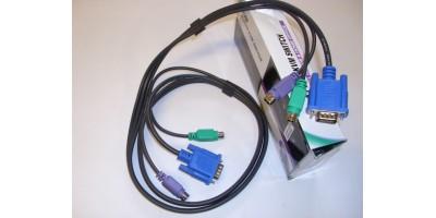 KVM kombinovaný kabel 2xPS2 + 1xVGA
