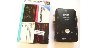 2 Portový manuální KVM přepínač PS2