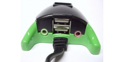 3-portový USB HUB + aoudio prodlužovací kabel HUB16