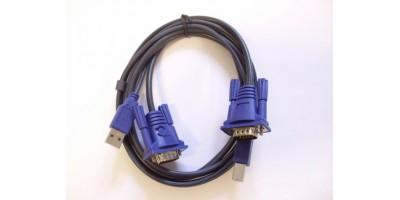 KVM kombinovaný kabel 1xUSB + 1xVGA