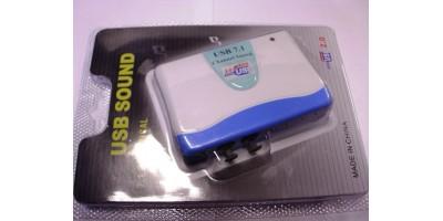 USB zvukovka 7.1 s komplet.výstupy