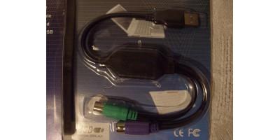 USB - 2xPS2 převodník kabel černý